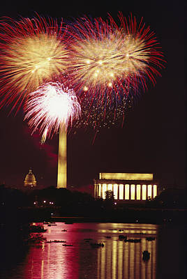 July 4th Fireworks Over Washington Art Print