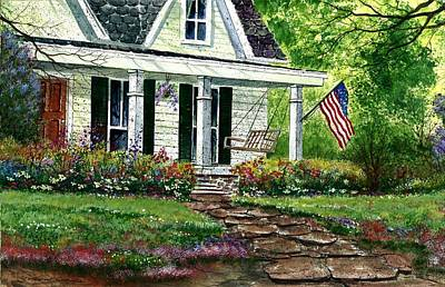 Independance Day Painting - July 4th by Steven W Schultz