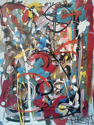 Number 24 Painting - July 9 2012-4 by Gustavo Ramirez