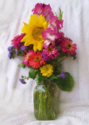 July Bouquet Art Print