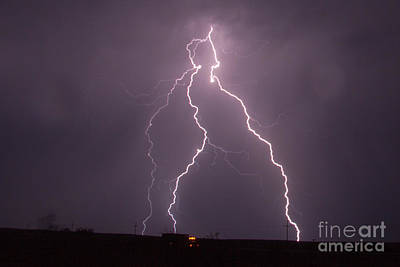 Photograph - July Lightning 5 by Shawn Naranjo