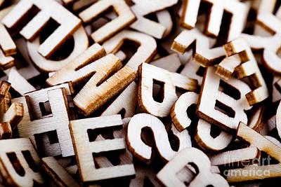 Jumbled Letters Close Up Art Print