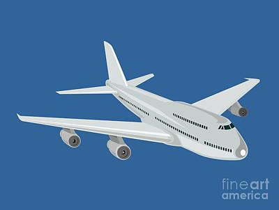 Jumbo Jet Plane Retro Print by Aloysius Patrimonio