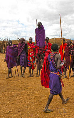 Photograph - Jumping Masai by Marie Morrisroe