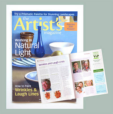 Painting - June 2012 Article Artists' Magazine by Chris  Saper