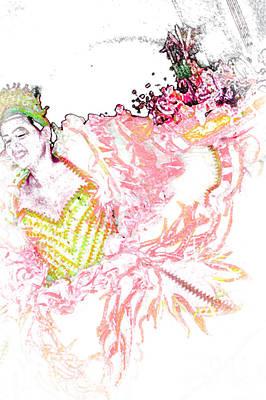 Light Paint Drawing - June Festival 3 by Rosane Sanchez