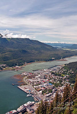 Aerial Tramway Photograph - Juneau Alaska View by Jim Chamberlain