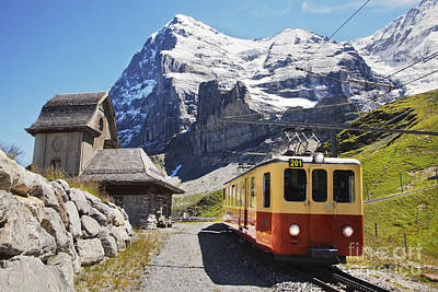 Jungfraujoch Photograph - Jungfraubahn Train 1 by Greg Stechishin