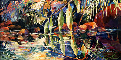 Jungle Reflections Art Print by Rae Andrews
