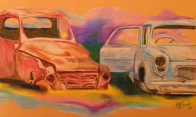 Junkyard Friends Art Print by Tersia Brooks