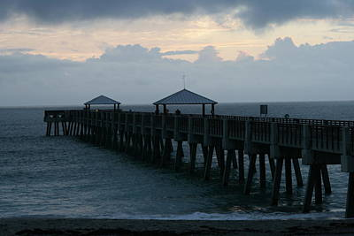 Photograph - Juno Beach Pier Dawn by Christopher Kirby
