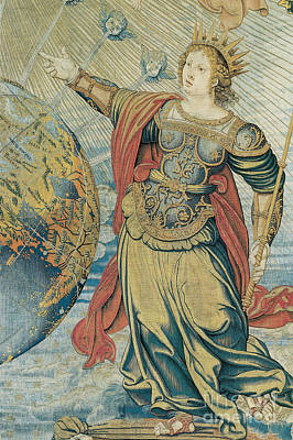 Tapestries - Textiles Photograph - Juno, Roman Goddess by Photo Researchers