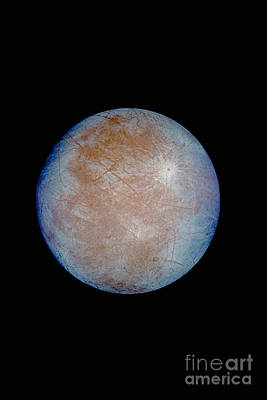 Photograph - Jupiters Ice-covered Satellite, Europa by NASA/JPL-Caltech