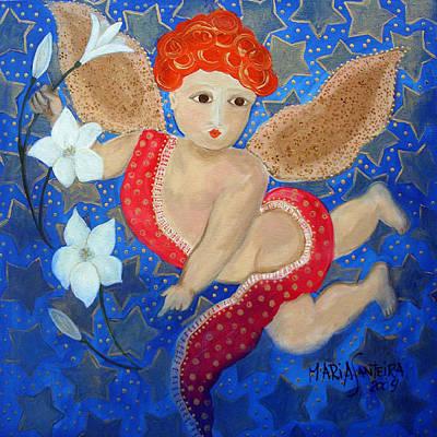 Just A Little Cherubim Art Print by Maria Matheus Maria Santeira