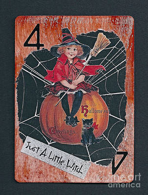Mixed Media - Just A Little Witch by Ruby Cross