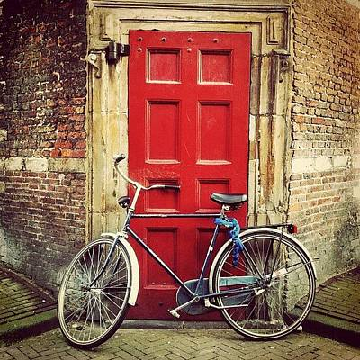 Dutch Photograph - Just A Very Typical #dutch #bike In by Marianne Hope