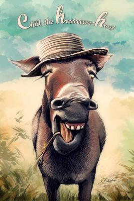 Donkey Digital Art - Just Chill by Zdralea Ioana