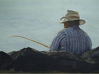 Just Fishing Art Print by Sarah Buell  Dowling