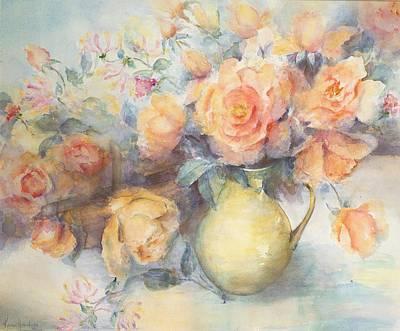 Just Joey Roses Art Print by Karen Armitage