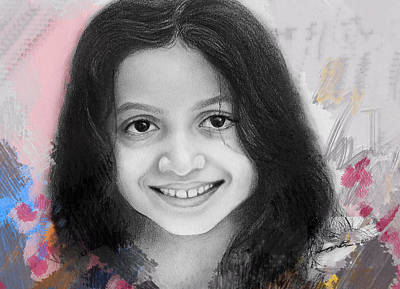 Smiling Mixed Media - Just Like Flowers by Arti Chauhan