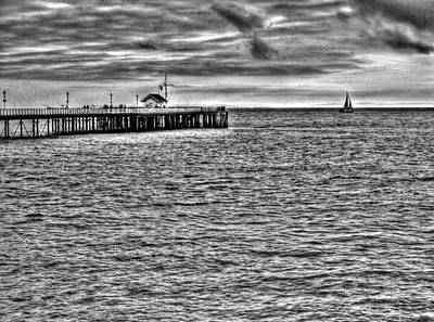 Mono Photograph - Just Sailing By Mono by Steve Purnell
