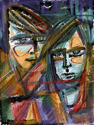 Couple Mixed Media - Just Starting Out by Russell Pierce