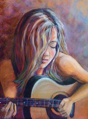 Painting - Just Strumming by Pauline  Kretler