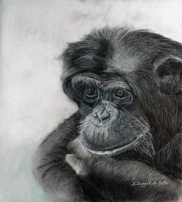 Just Thinking Art Print by Sandra Sengstock-Miller