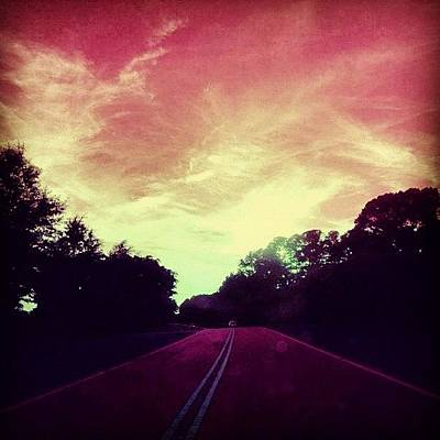 Colourful Wall Art - Photograph - #justdriving #colourful #sky #road by Katie Williams