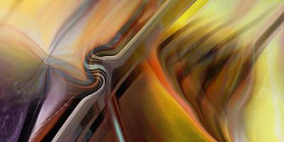 Digital Art - Justify Oblique by Steve Sperry