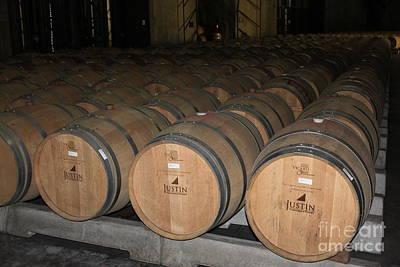 Wine Barrel Mixed Media - Justins by Lauri Serene