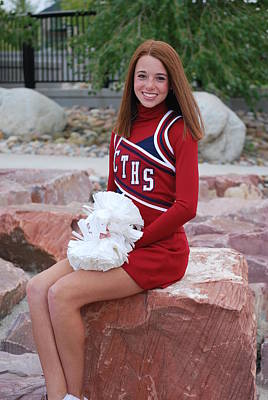 Photograph - Jv Poms Individual 3 by Amee Cave