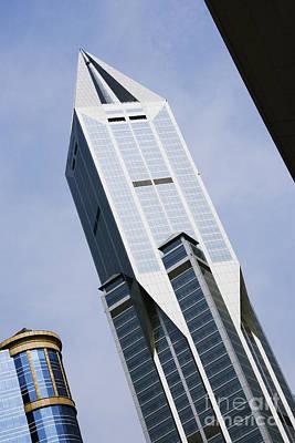 Jw Marriott Tower In Downtown Shanghai Art Print by Jeremy Woodhouse