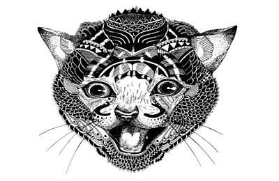 K Kat Art Print by JF Mondello