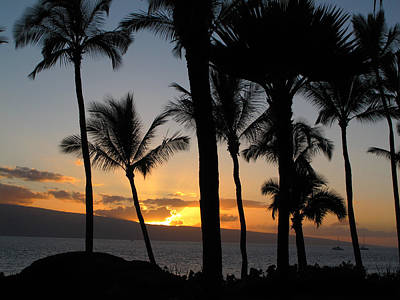 Photograph - Ka'anapali Sunset by Kathy Corday