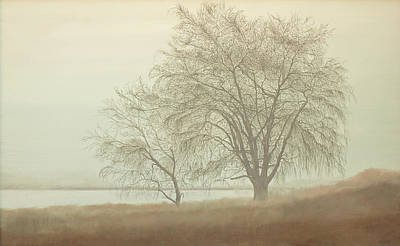 Painting - Kah Tai Fog by Laurie Stewart