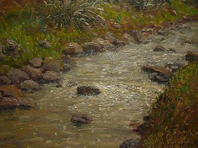 Painting - Kaikorai Stream After Rain by Terry Perham