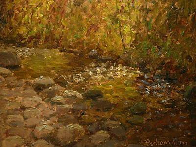 Painting - Kaikorai Stream Dunedin Nz by Terry Perham