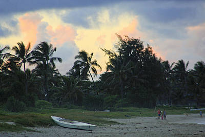 Kailua Beach Sunset Art Print