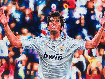 Soccer Drawing - Kaka by Janine Hoffman