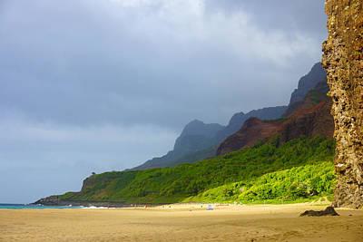 Kalalau Beach Photograph - Kalalau Beach Evening Kauai by Kevin Smith