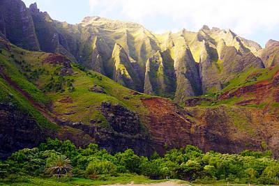 Kalalau Beach Mountains Kauai Art Print by Kevin Smith