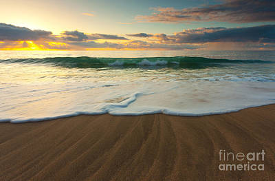 Kalalau Beach Sunset Art Print by Buck Forester