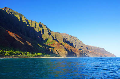 Kalalau Beach Photograph - Kalalau Coast Kauai by Kevin Smith