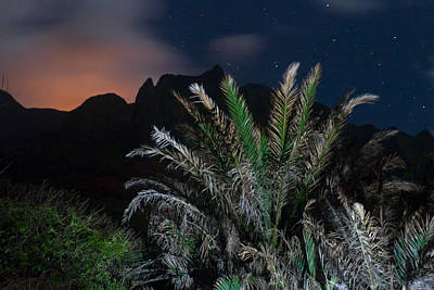 Photograph - Kalalau Mountains At Night by Lannie Boesiger