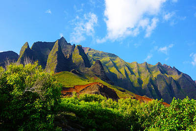Kalalau Mountains Morning Kauai Print by Kevin Smith
