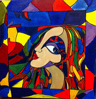 Painting - Kaleidoscope Girl by Rae Chichilnitsky