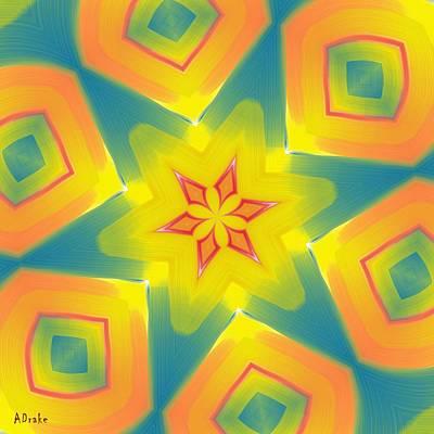 Kaleidoscope Series Number 8 Art Print by Alec Drake