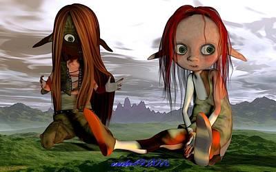 Kali Digital Art - Kali What Happened Did We Become Giants by Richard Eskridge