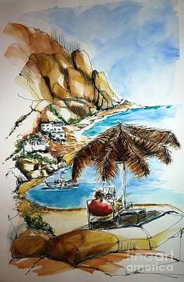 Art Print featuring the painting Kalymnos 2 by Therese Alcorn